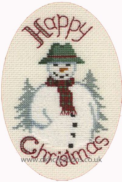 Snowman Greetings Card Cross Stitch Kit